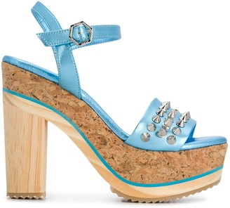 Philipp Plein Spike-Studded Platform Sandals