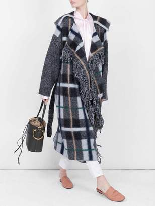 Stella McCartney checked belted cardigan