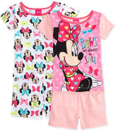 Minnie Mouse 4-Pc. Cotton Bows Pajama Set, Toddler Girls (2T-5T)