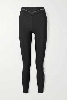 Adam Selman Sport Studded Stretch Leggings - Black