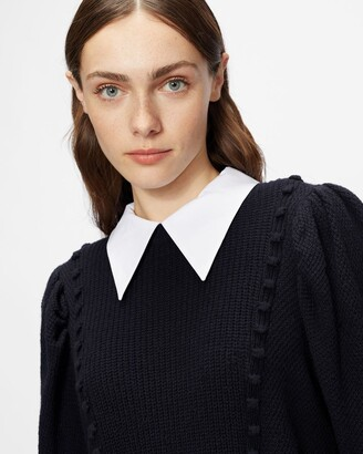 Ted Baker Knit Jumper With Collar Detail