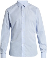 Valentino Button-cuff striped cotton-poplin shirt