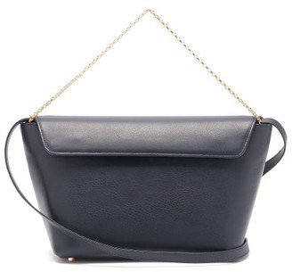 Tsatsas Olive Leather Bucket Bag - Navy