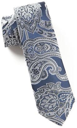 Tie Bar Aaron Paisley Silver Tie