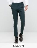Number Eight Savile Row Skinny Suit Trouser In Micro Herringbone