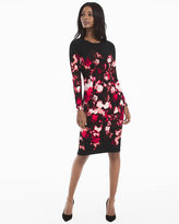 White House Black Market Long Sleeve Floral Printed Sheath Dress