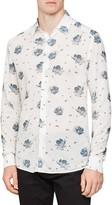 Reiss Phoenix Slim Fit Floral Print Button-Up Shirt