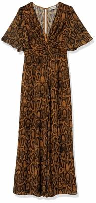 Finders Keepers findersKEEPERS Women's Lana Short Sleeve Wide Leg Snake Jumpsuit