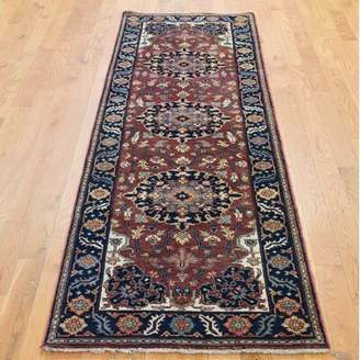 """R & E Darby Home Co One-of-a-Kind Camak Re Creation Hand-Knotted Runner 2'6"""" x 8' Wool Red Area Rug Darby Home Co"""
