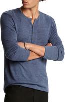 John Varvatos Star USA Mens Union Ls Waffle Henley with Curved Hem Henley Shirt