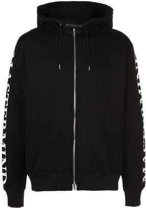 Mastermind Japan skull print zip-up hoodie