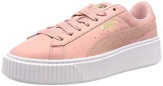 Puma Women's Platform Shimmer WN's Low-Top Sneakers, Pink (Bridal Rose White)
