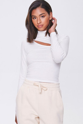 Forever 21 Cutout Turtleneck Top