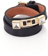 Proenza Schouler PS11 Linosa Leather Double-Wrap Bracelet