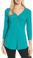 Chaus Women's Zip Front Top
