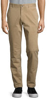 Black Brown 1826 Cotton-Blend Straight-Leg Pants