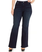 INC International Concepts Plus Size Slim Tech Bootcut Jeans, Only at Macy's