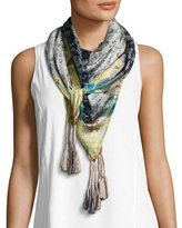Johnny Was Meadow Printed Silk Scarf