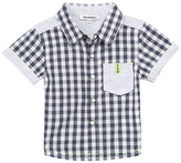 3 Pommes Navy Checkered Shirt