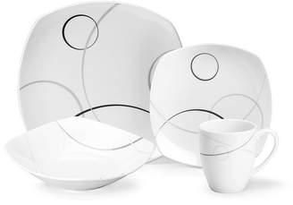 Mikasa Geometric Circles 16-Pc. Dinnerware Set, Service for 4