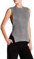 DKNY Sleeveless Wrap Sweater