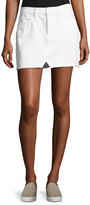 Frame Le Mini Split Front Skirt, White