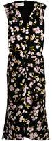 Marni Floral-Print Ruched Cotton And Silk-Blend Dress