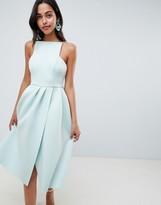Asos Design DESIGN strappy open back midi prom dress