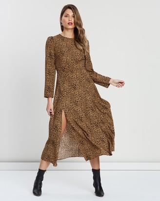 Atmos & Here Peri Animal Midi Dress