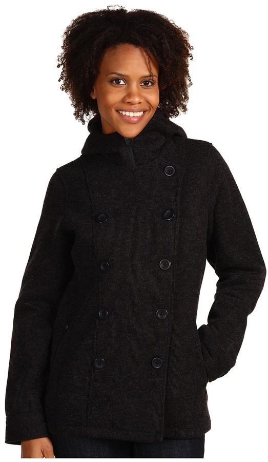 Royal Robbins Urban Pea Coat (Jet Black) - Apparel