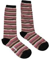 Missoni Gm00cmd5218 0002 Fuschia/tan Knee Length Socks.