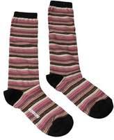 Missoni Gm00cmd5218 0002 Fuschia/tan Knee Length Socks.