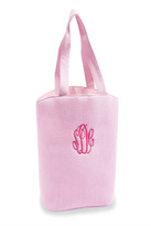 Mud Pie Pink Seersucker Tote