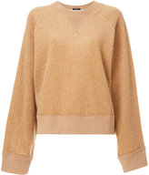 R 13 camel fur sweater - women - Cotton/Camel Hair - S