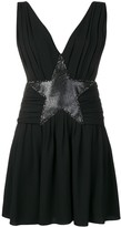 Saint Laurent star applique mini dress