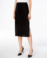 NY Collection Petite Crinkled A-Line Midi Skirt