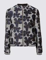 Marks and Spencer Floral Embroidered Bomber Jacket