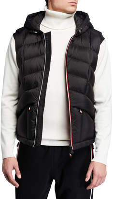 Moncler Men's Grenoble Rossiniere Zip-Front Hooded Vest