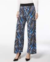 Alfani Printed Palazzo Pants Available in Regular & Petite Sizes, Created for Macy's