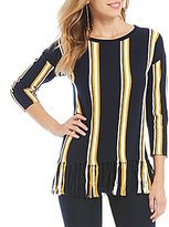 Daniel Cremieux Penny Stripe Knit Top