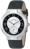 Philip Stein Teslar Women's 41-MBW-CMB Stainless Steel Watch with Metallic Leather Band