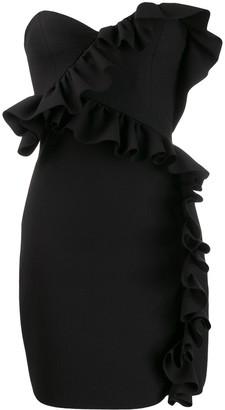 MSGM ruffle trim cocktail dress