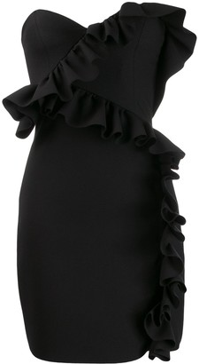 MSGM Ruffle Trim Cocktail Dress