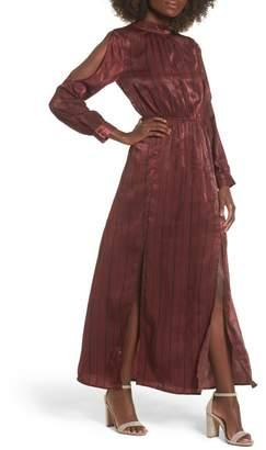 J.o.a. Cold Shoulder Maxi Dress