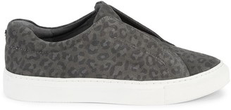 J/Slides Luv Leopard-Print Suede Sneakers