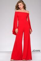 Jovani Off the Shoulder Jersey Jumpsuit 39598