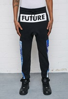 Forever 21 FOREVER 21+ L.A.T.H.C. Abstract Print-Paneled Sweatpants