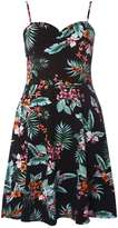 Dorothy Perkins Black Tropical Print Camisole Dress