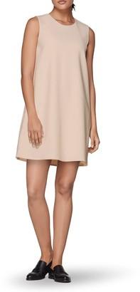 SUISTUDIO Fit & Flare Wool Blend Dress