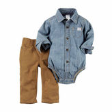 Carter's 2-pc. Chambray Bodysuit and Pants Set - Baby Boys newborn-24m